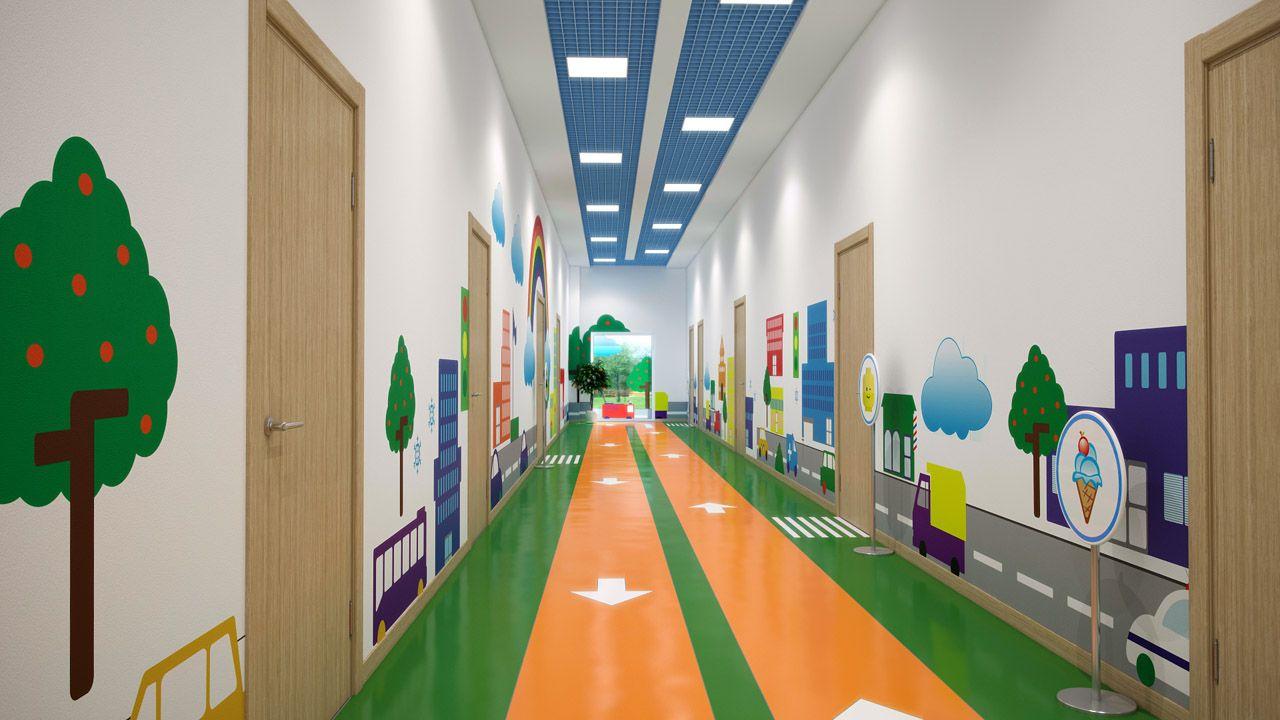 Дизайн коридоров в детском саду фото
