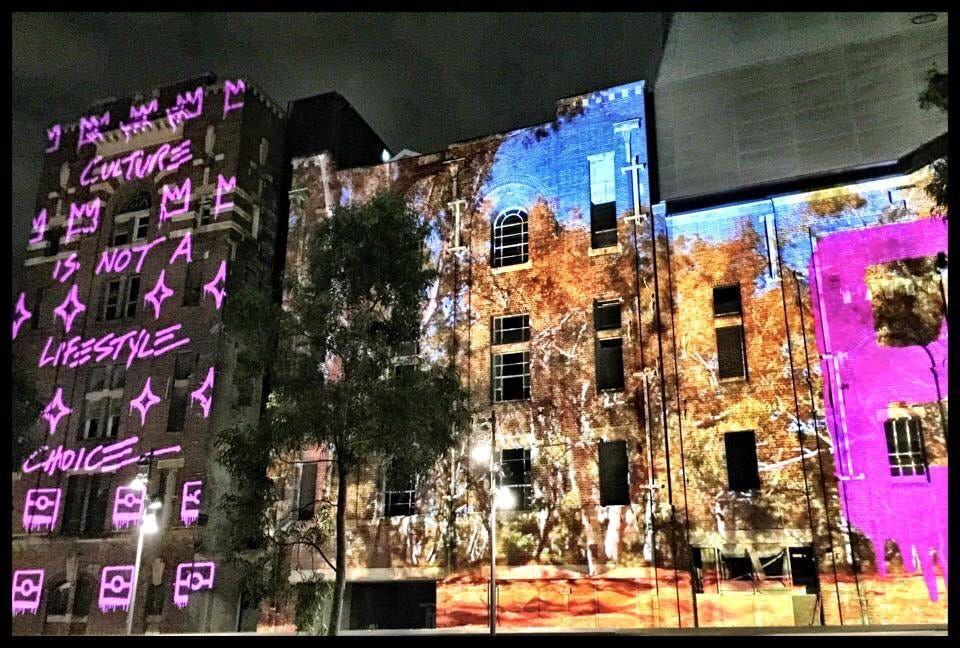 Vivid Light Festival, Broadway, Sydney 2015 by Georgan Safarjalani