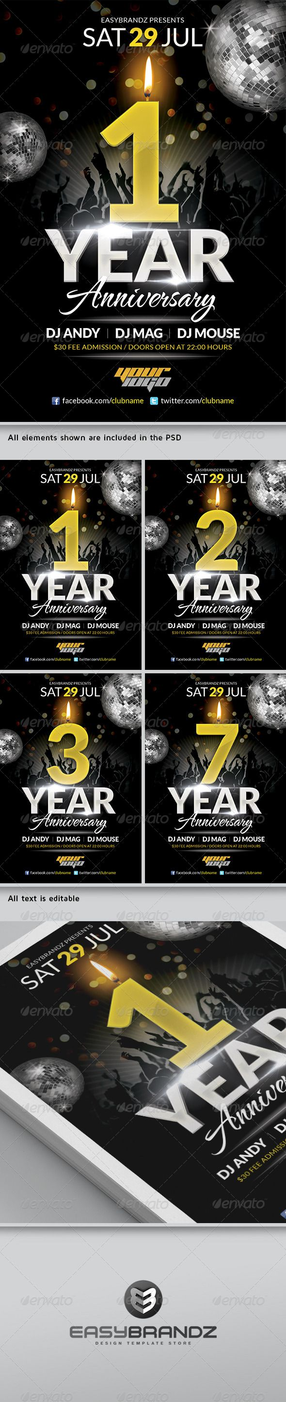 anniversary flyer template events flyers 2014 pinterest