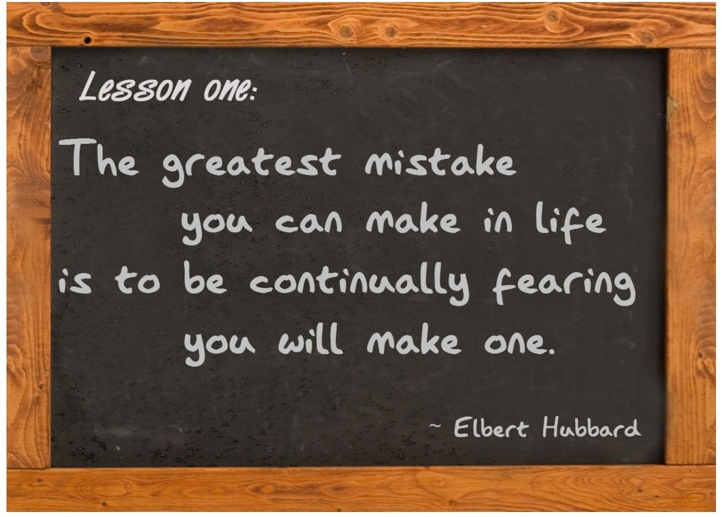 The greatest mistake | Life lesson quotes, Fear quotes ...