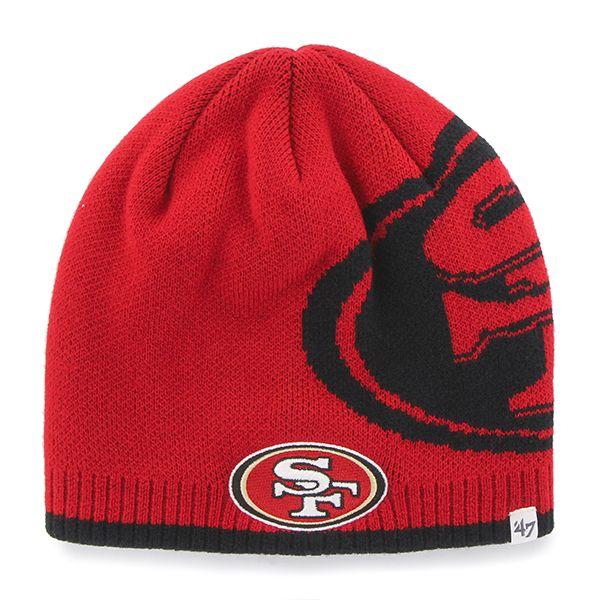 d5119aa6ddc San Francisco 49Ers Peaks Beanie Red 47 Brand Hat