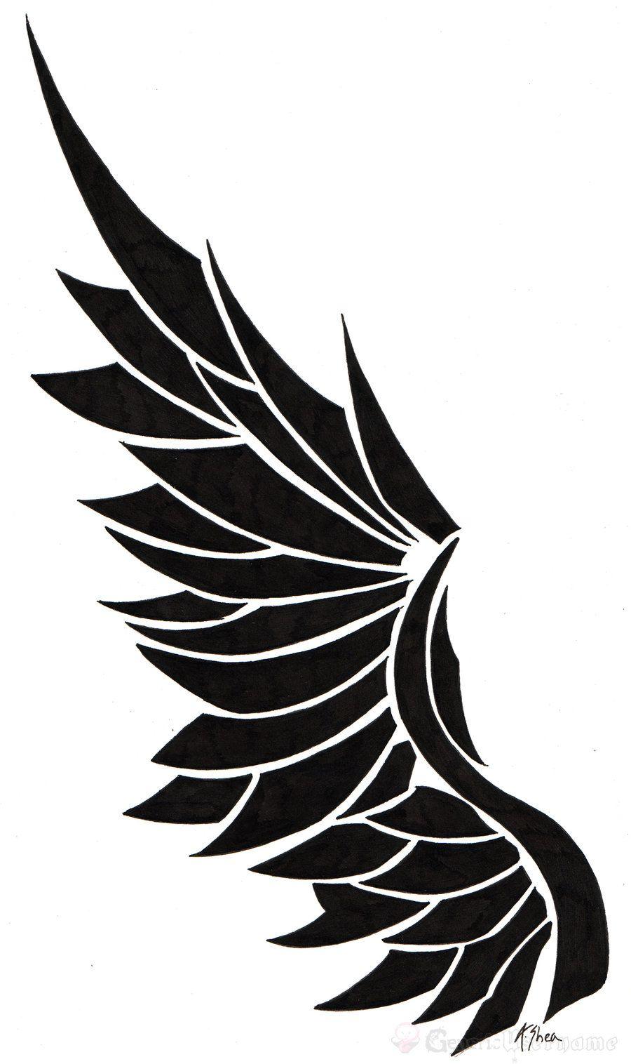 Tatoo Angel Wing By Generic Usernamedeviantartcom On At Deviantart
