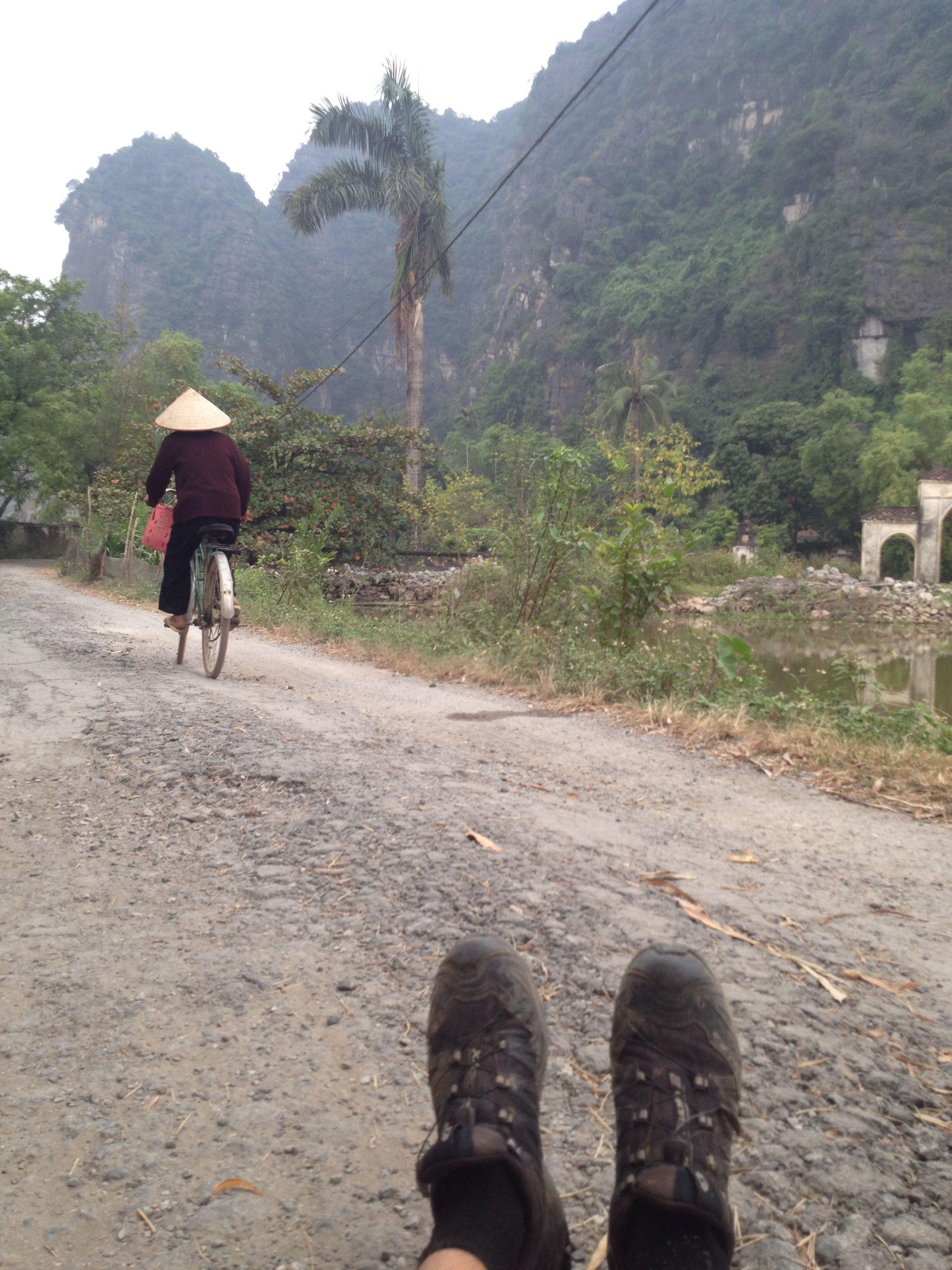Running in Ninh Binh, Vietnam