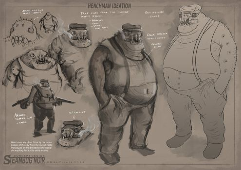 SteamBug Noir - Henchman Ideation by MikeCoombsArt