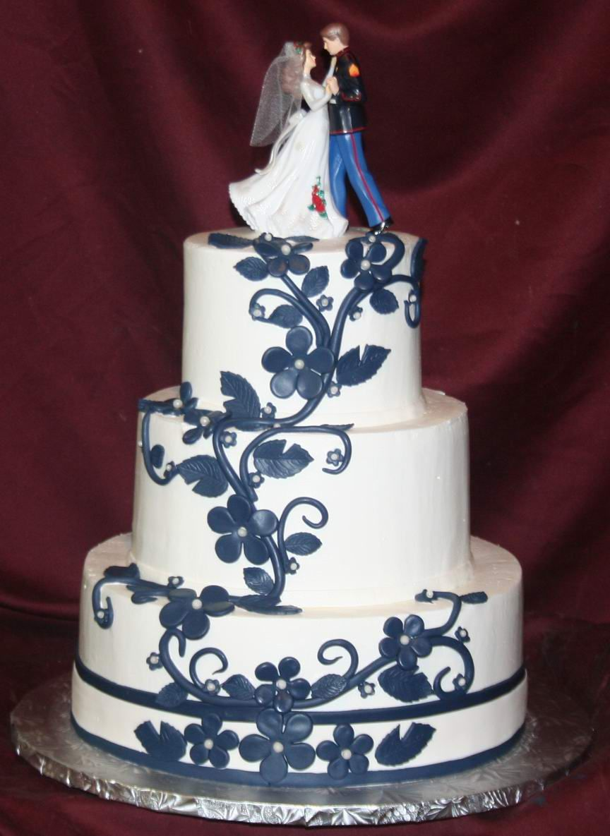 army themed wedding cakes navy blue and grey flowers blue wedding cake designs 10824