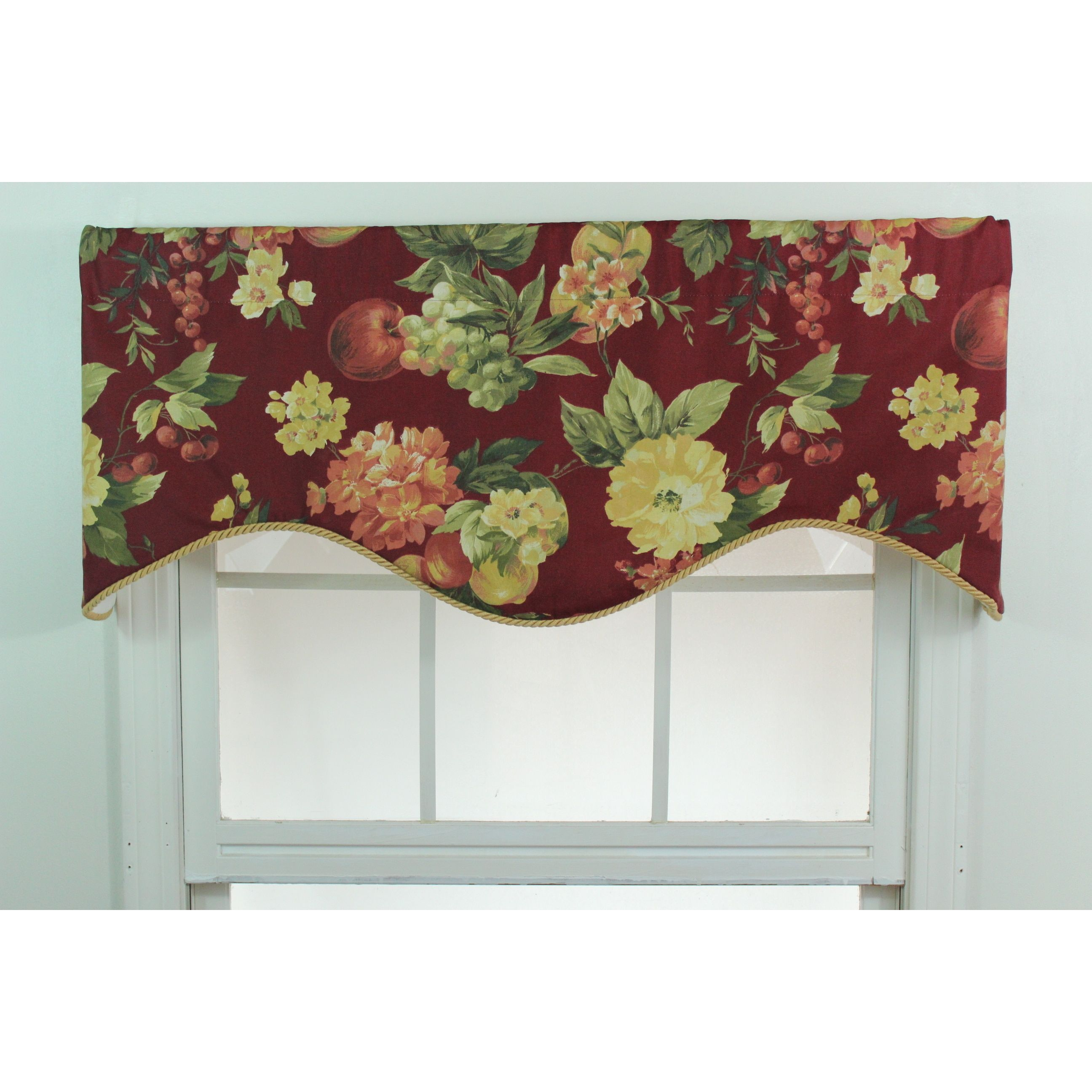 contrast banding with s shaped valances valance cornices and jabots lined window pin cathy