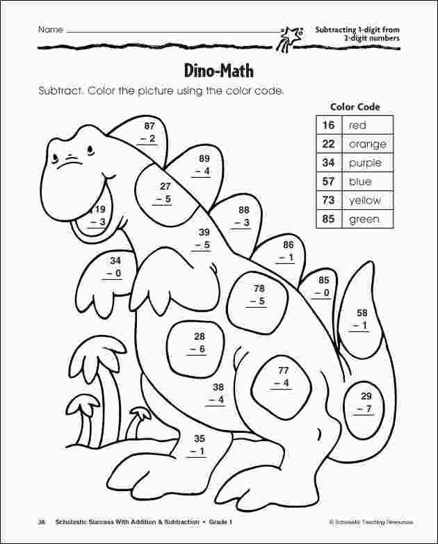 Coloring Pages For Grade 2 Math Subtraction Math Coloring Worksheets Color Worksheets
