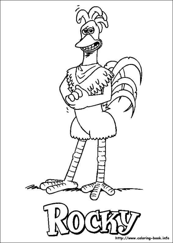 Rocky Coloring Page From Chicken Run