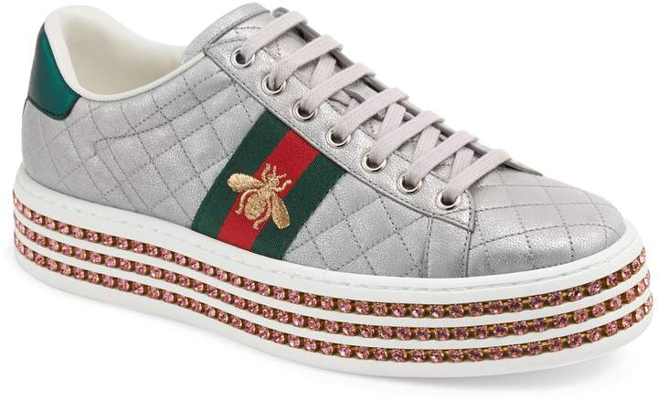 71b971be Women's Gucci New Ace Low Top Sneaker, Size 6US / 36EU - White in ...