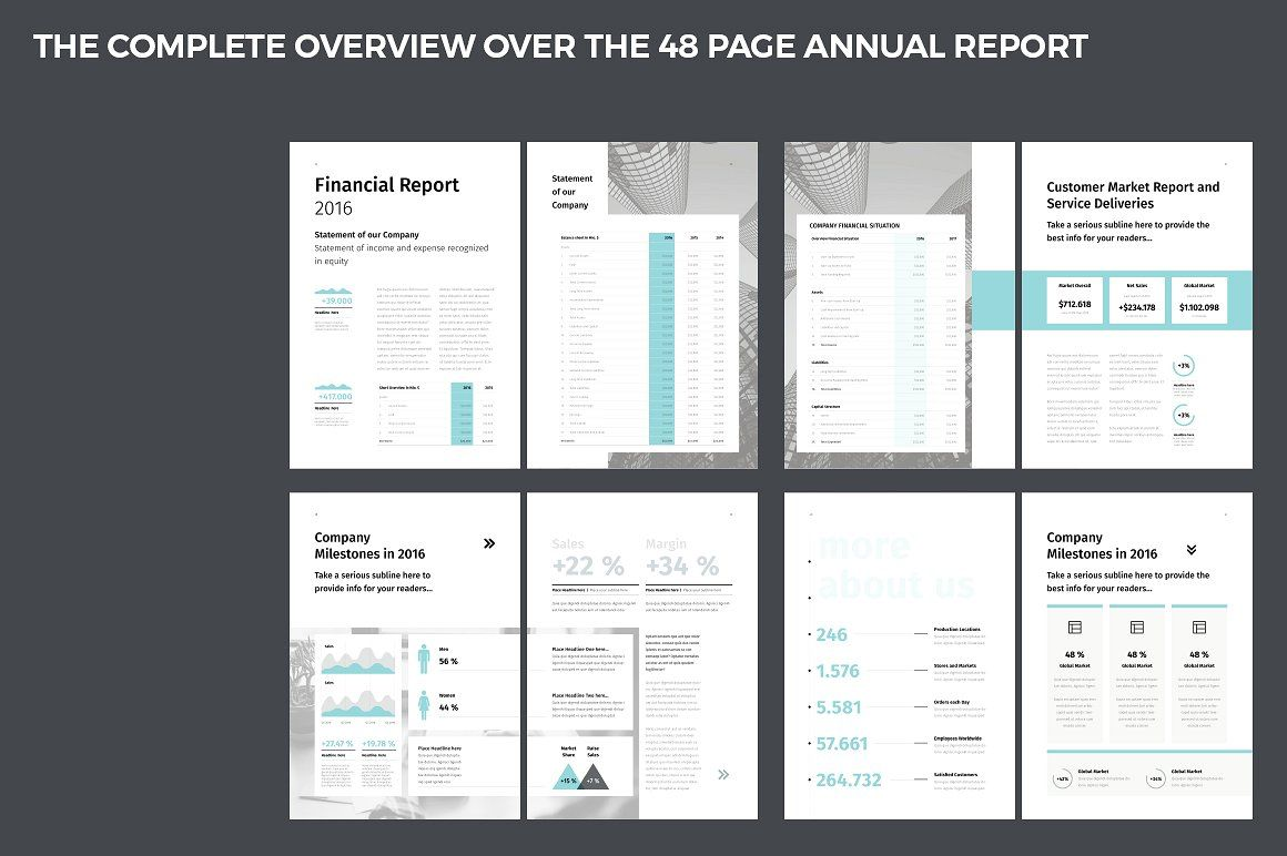 Annual Report #package#present#promotion#includes | Social
