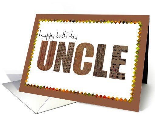 Uncle Birthday Card Birthday Cards