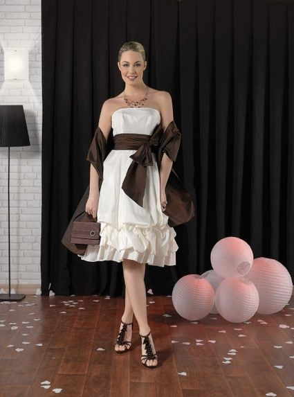 Robe cocktail point mariage