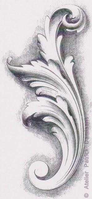 Pin By Javiera Macarena On Ornamental Ornament Drawing Acanthus Filigree Tattoo