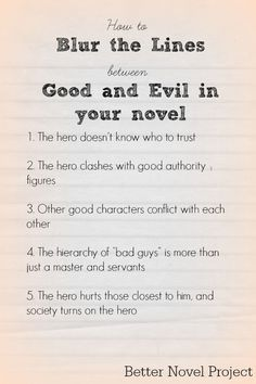 good and evil theme