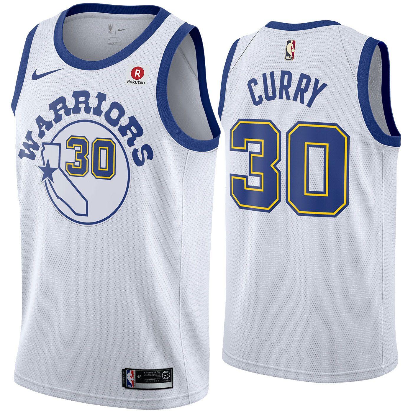 Golden State Warriors Nike Dri-FIT Men's Stephen Curry #30 Swingman Hardwood Classic Jersey ...