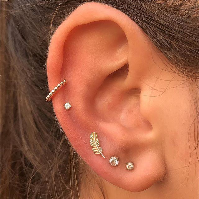 Ohr Piercing Ideen für Frauen #earpiercingideas