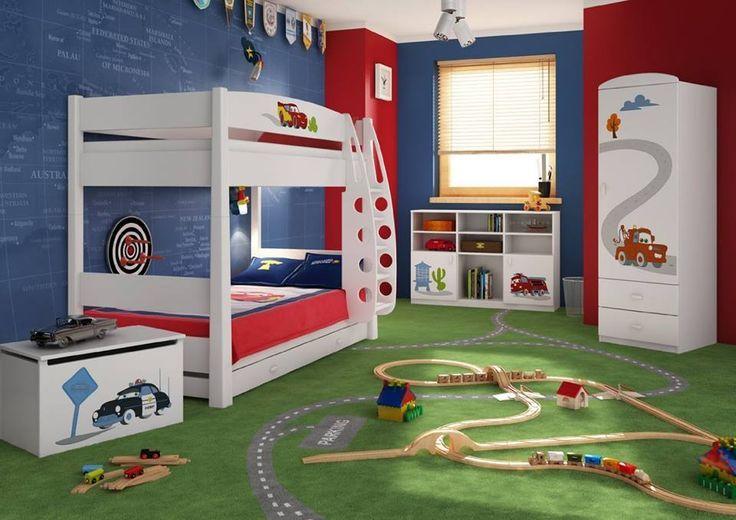 Autozimmer Komplettes Cars Kinderzimmer mit Etagenbett