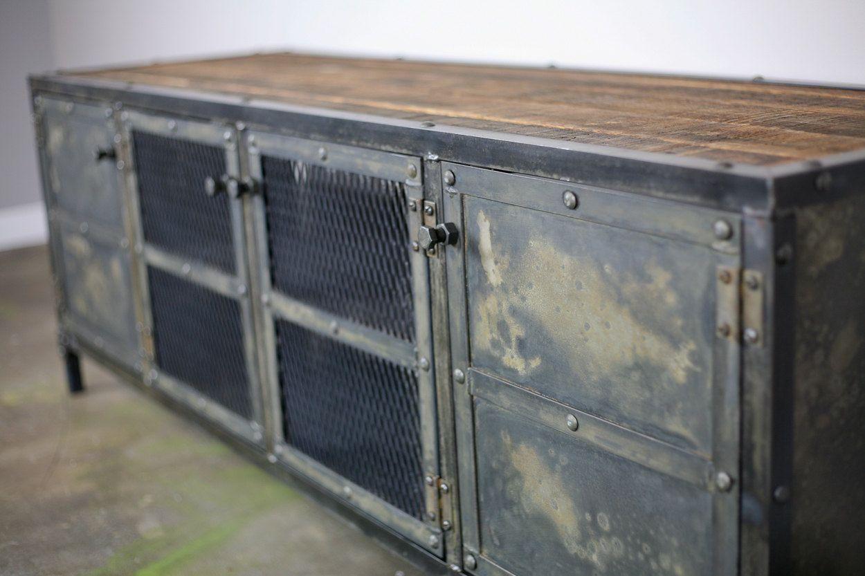industrial furniture hardware. vintage industrial media console furniture hardware
