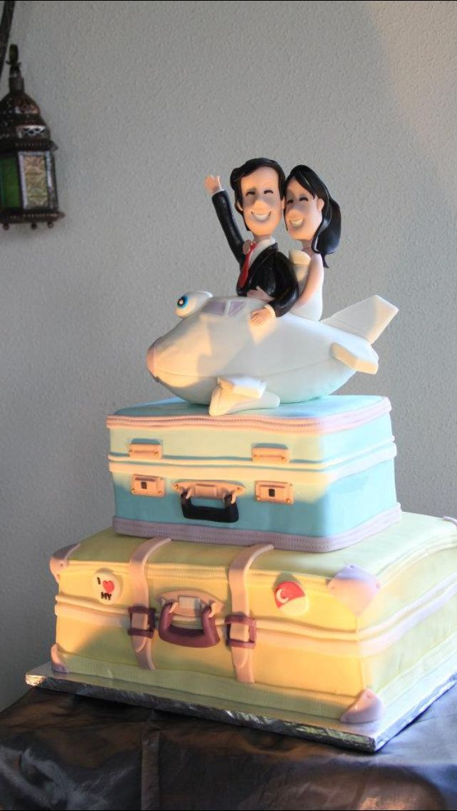 Our Travel Themed Wedding Cake by Cake Temptations, Phils.
