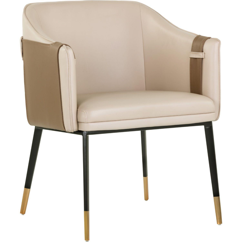 Sunpan Carter Dining Arm Chair In Beige Tan Leather Set Of 2 Chair Dining Arm Chair Armchair