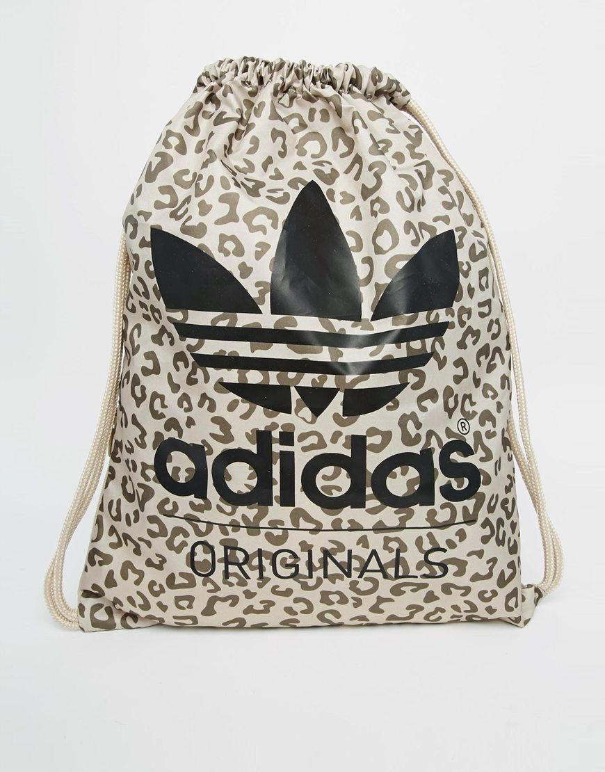 adidas Originals Leopard Drawstring Backpack | Feeling Festive ...