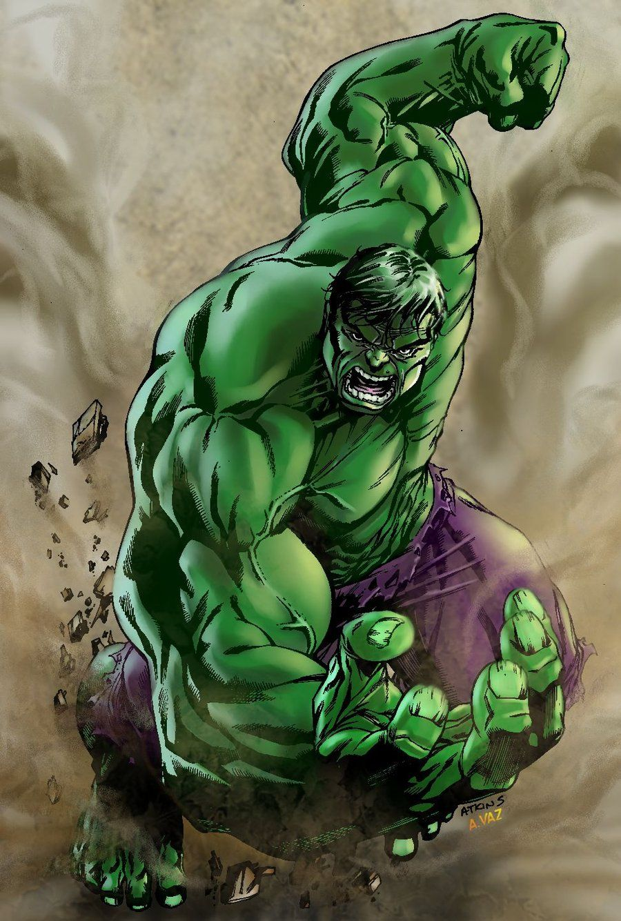 Incredible Hulk - Art by Robert Atkins by Andre-VAZ ...
