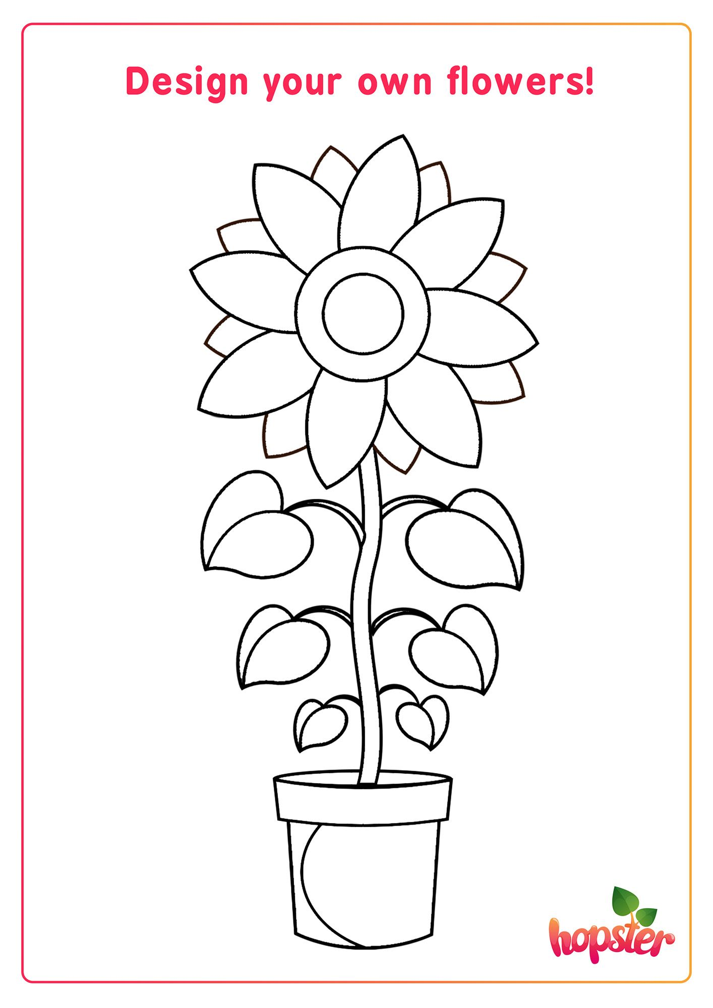 Colour In This Flower With Your 3 Favourite Colours Fun Printables For Kids Kids Learning Apps Activity Sheets [ 2000 x 1414 Pixel ]