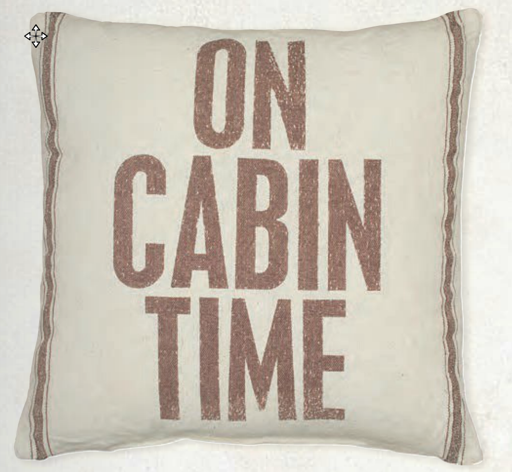 Need A Larger Accent Pillow For You Cabin Furniture This