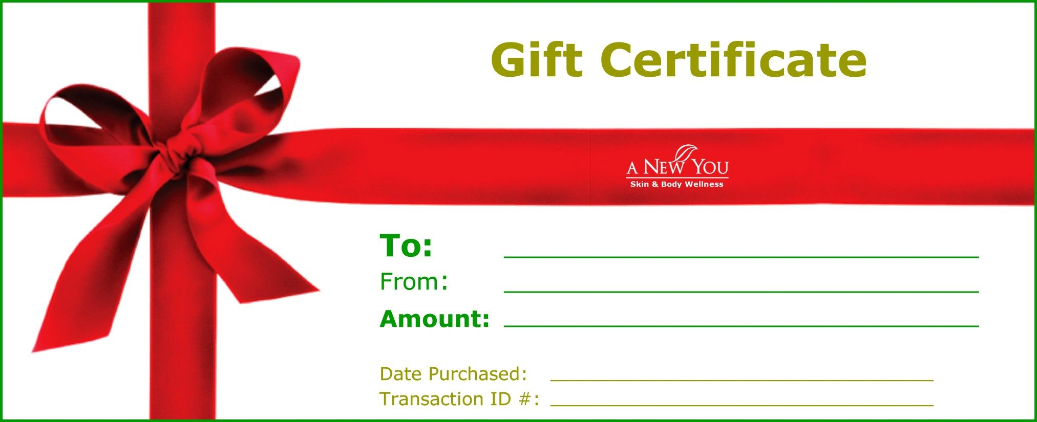 Live every moment christmas gift certificate template