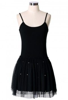 Pearl Ballet Tulle Dress in Black - Retro, Indie and Unique Fashion