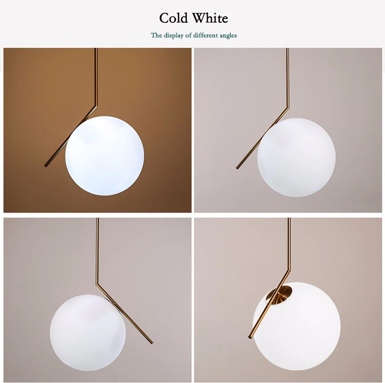 Nordic Pendant Lights Globe Round Glass Pendant Lamp Ball Hanging Lamp For Kitchen Living Ro In 2020 Living Room Light Fixtures Glass Pendant Lamp Pendant Ceiling Lamp