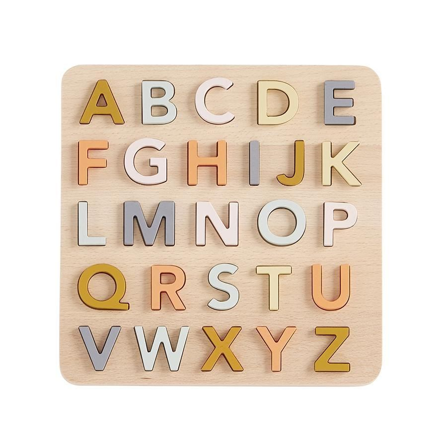 Kids Concept Wooden Puzzle Abcpractise Abcs With This Beautiful