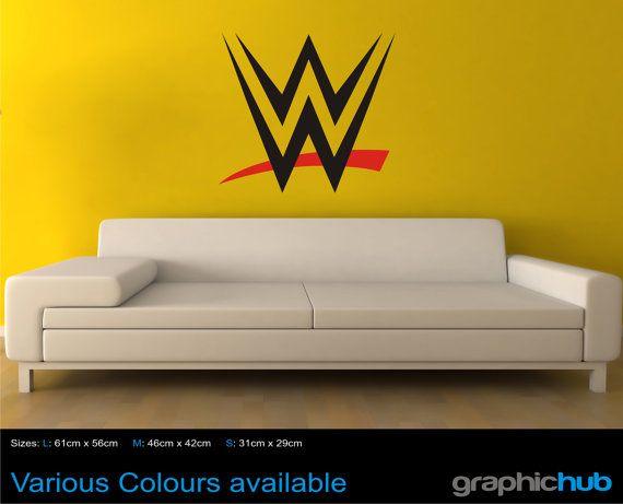 American Wrestling WWE sign wall art sticker decal New   wrestling ...