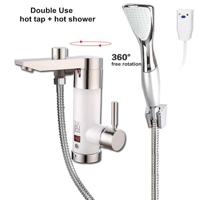 Instant Water Heater Kitchen Sink Honest Embark Instantaneous Tap Electric Tankless Continuous Hot Heating For Bathroom Shower Faucet Mixer