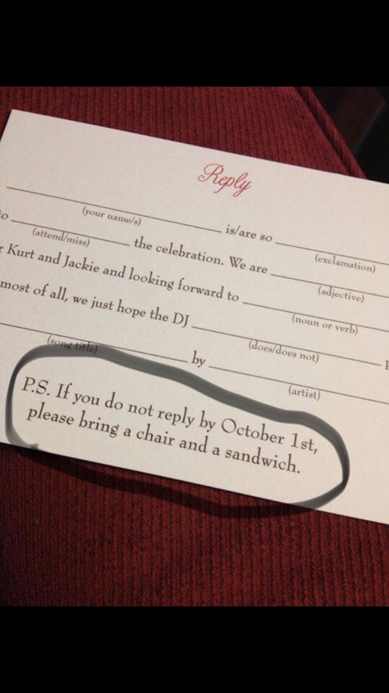 Hilarious Wedding Invitation Bride Groom Future