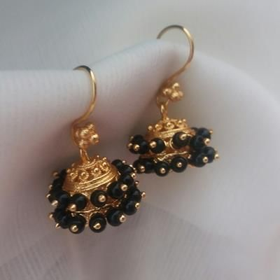 aashi jhumki black jewellery Pinterest Ear rings Black and