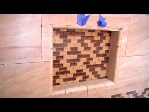 How To Install Quarter Round Pencil Trim For A Shower Niche Diy Youtube Shower Niche Diy Shower Tile Trim