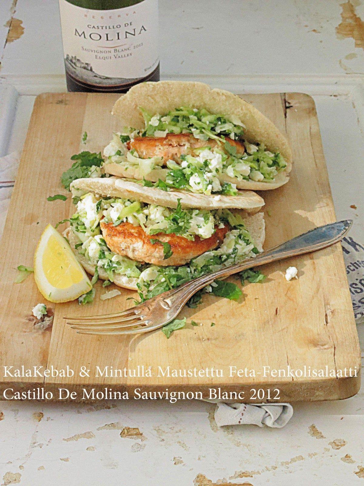 Onko nälkä?: Kalakebabit & Castillo De Molina Reserva Sauvignon Blanc