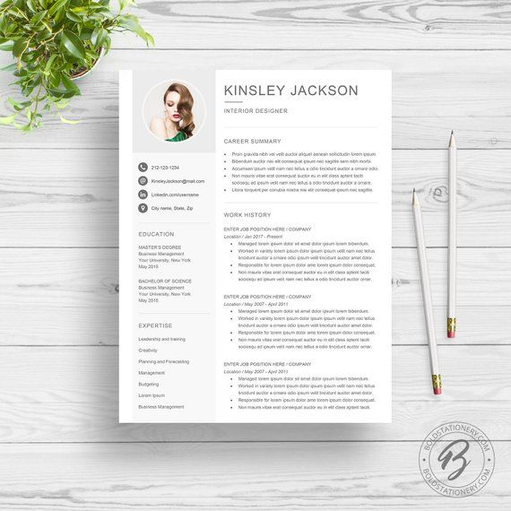 Cv Templates Free   Resume Template With Photo Photo Resume Cv Template For Word 2