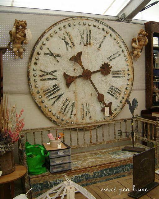 Sweet Pea Home Marburger Farms Fall 2011 Vintage Wall Clock Large Vintage Wall Clocks Oversized Wall Clock