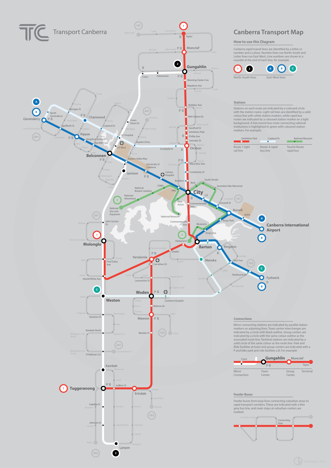 Map Of New York Rail System.Submission Fantasy Map Future Rapid Transit Of Canberra