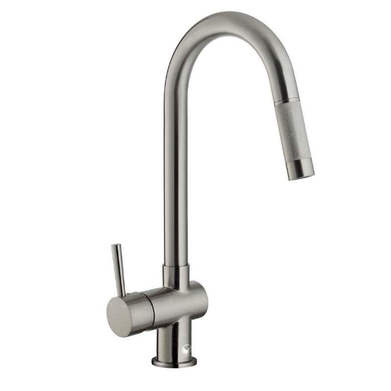 Vigo VG02008 Pullout Spray High-Arc Kitchen Faucet with Ceramic Disc ...
