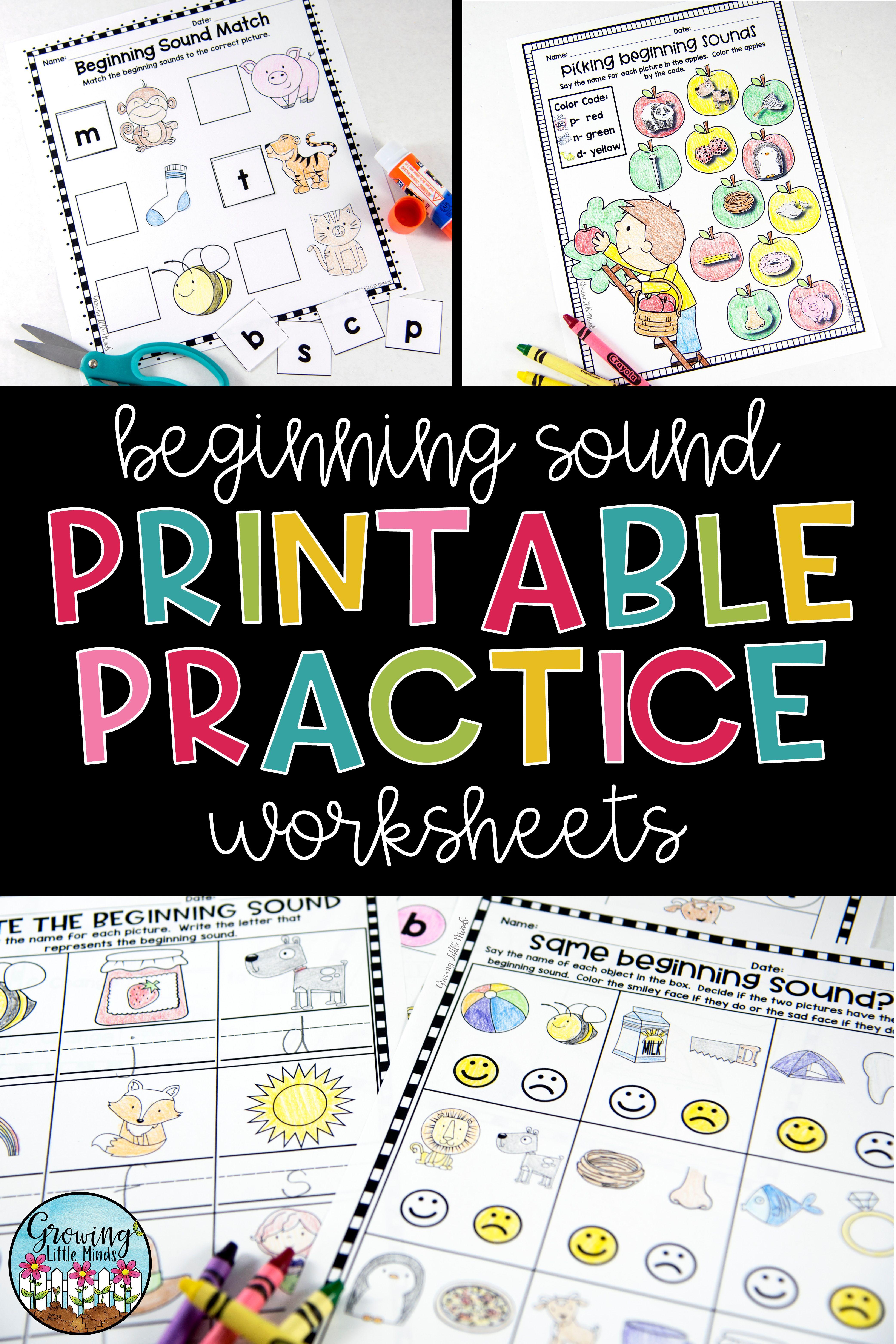 Beginning Sounds Printable Practice