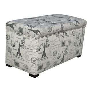 Sole Designs Angela Paris Match Onyx Storage Trunk | Overstock.com Shopping    Great Deals On Sole Designs Ottomans
