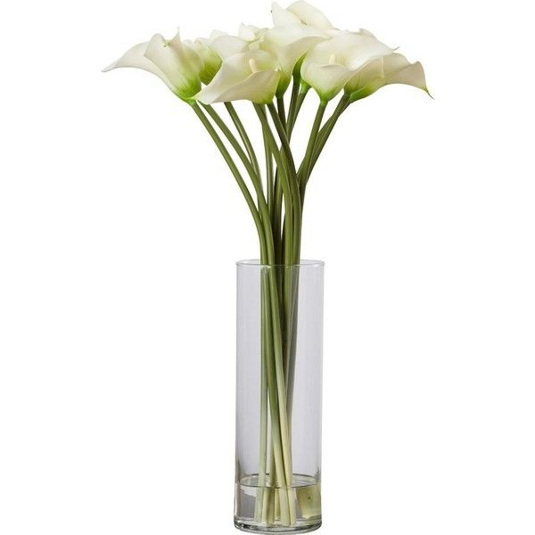 Calla Lily Flower Arrangement In Tall Vase Liked On Polyvore
