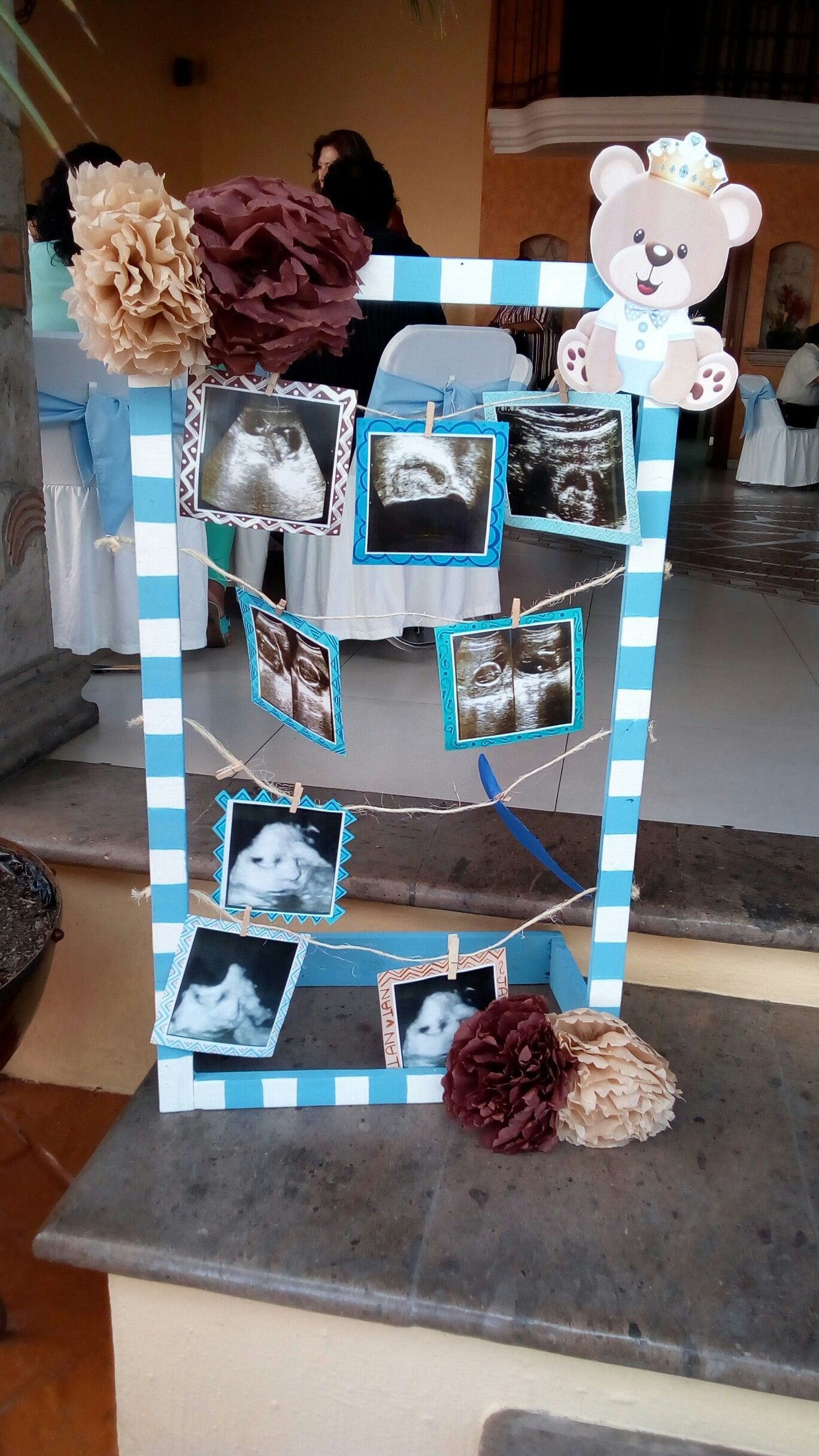 Marco de fotos baby shower baby shower ositos en 2019 - Mesa de baby shower nino ...