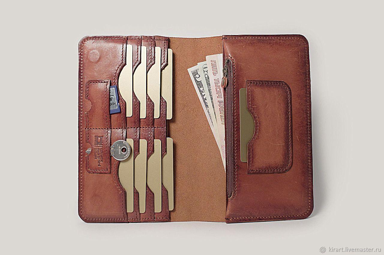 c894623b0e7e Купить КОШЕЛЕК-КЛАТЧ «BIGA» - коричневый, кошелек, кошелек кожа, кошелек  мужской, кожаный кошелек