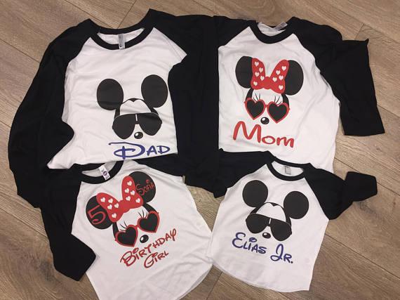 2c62697cfff4 Disney Birthday Shirt, Family Disney Shirts, Mickey Shirt, Minnie Shirt,  Minnie Birthday, Mickey bir