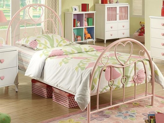 heart bed frame