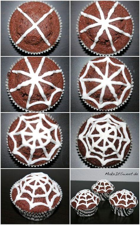 Einfach Halloween-Muffins dekorieren - MakeItSweet.de